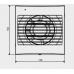 DECOR-100C 12V bathroom ventilator